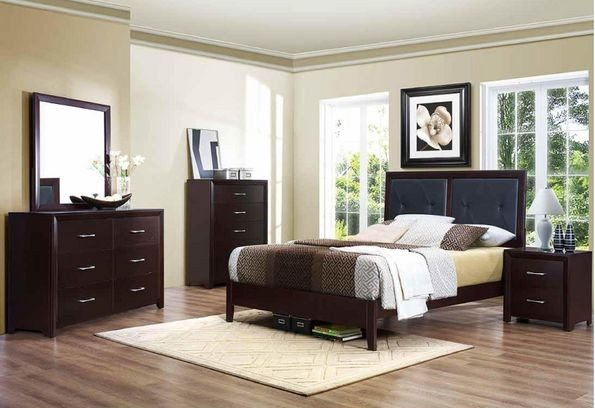 Leather Bed Suite By Home Elegance Furniture
