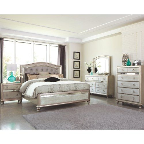 coaster bling bedroom collection