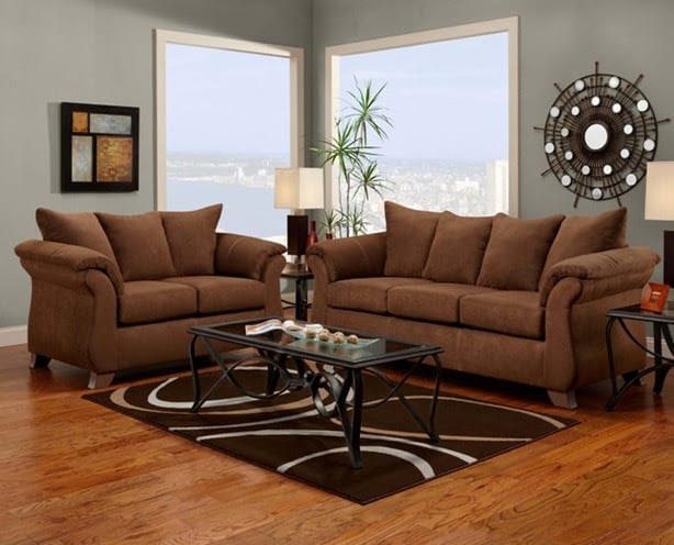 Sofa Set Dark Tan
