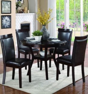 Dining Set Dark Wood