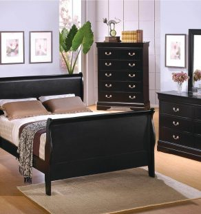 Black Wood Bedroom Set