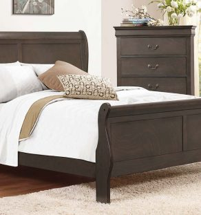 Dark Wood Bed set