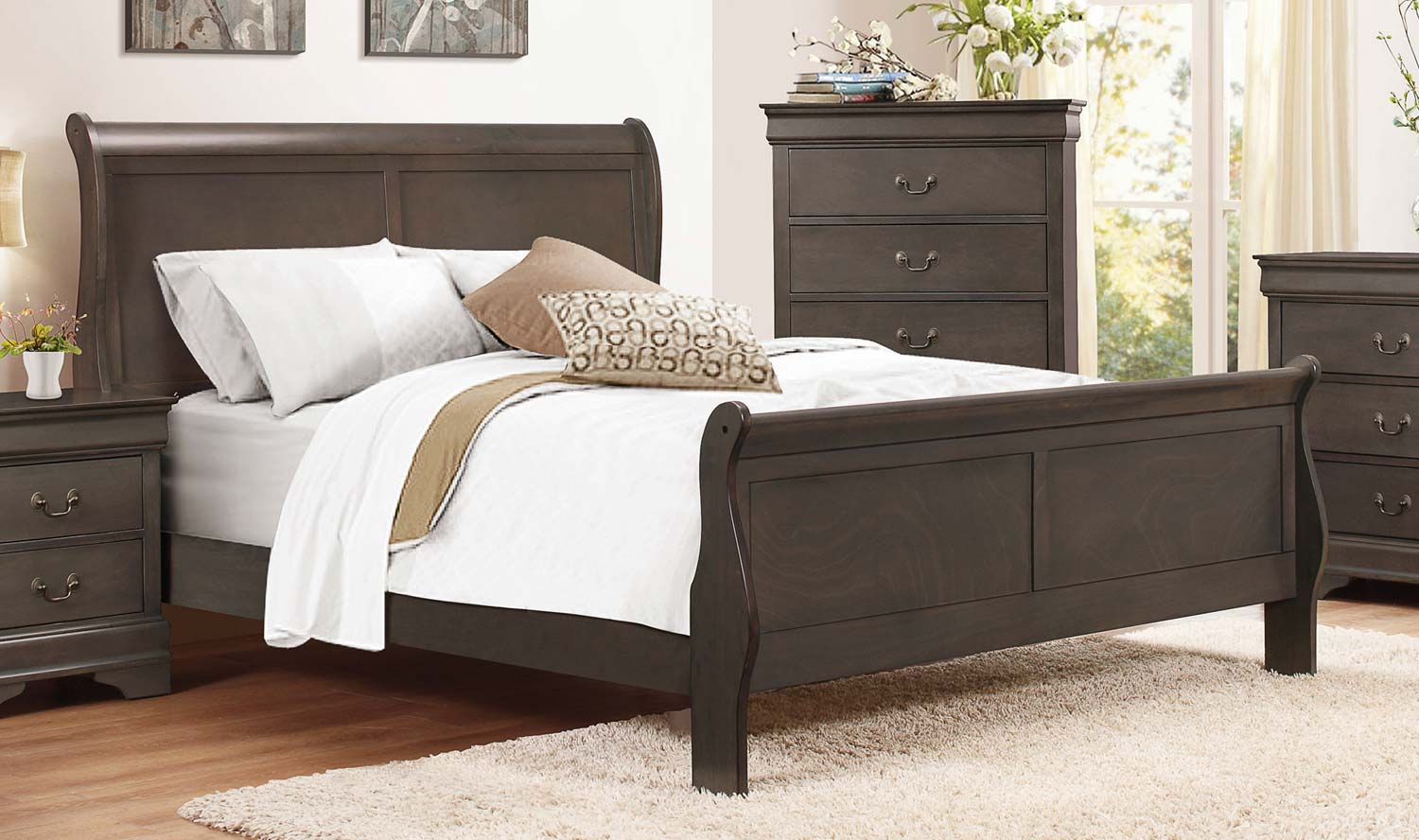 Bedroom Set - Dark Wood