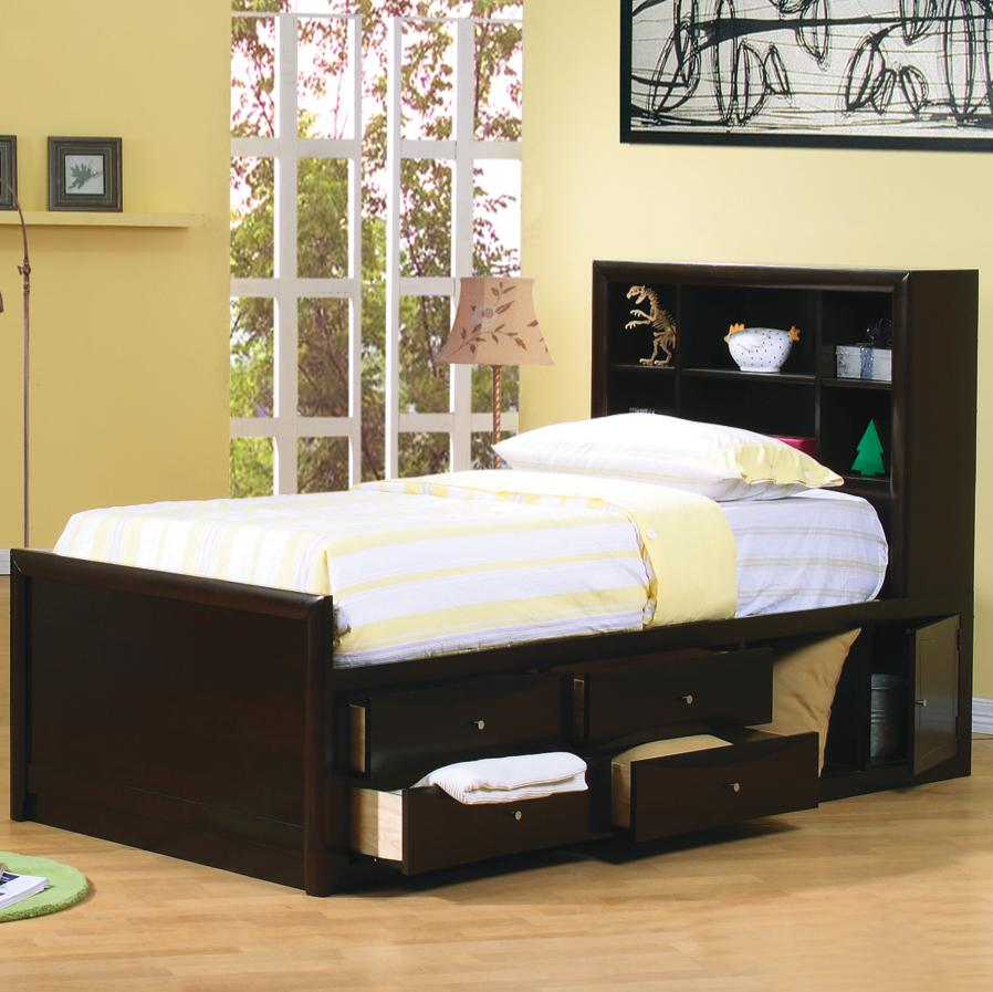 Twin Bed With Storage.Storage Bed By Coaster Furniture