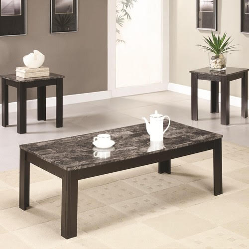 Marble Top Coffee-End Tables