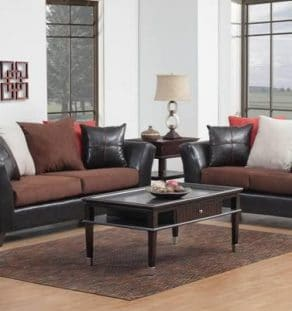 Black_Brown Sofa Set