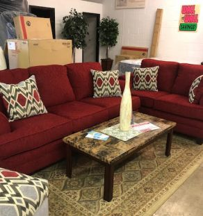 Sofa Set - Red