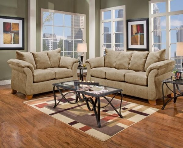 Sofa Set Light Tan