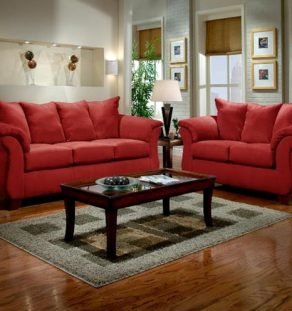 Sofa Set Red